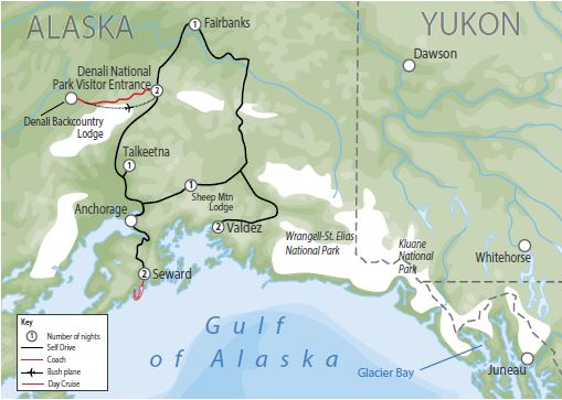 Alaska Reiseverlauf